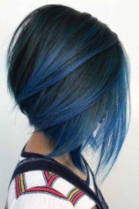 nuante de par albastru bob