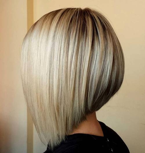 Modele de tunsori bob blond
