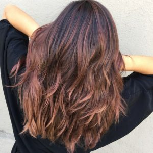 balayage blond rose