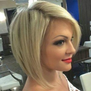 tunsori bob medii blond