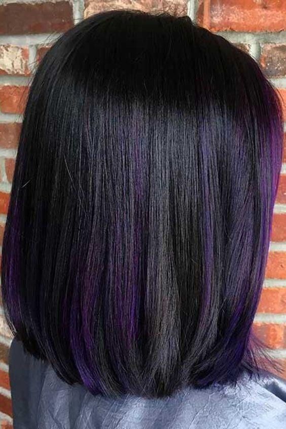 tunsori bob in nuante violet