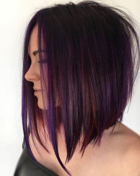 tunsori bob nuante violet suvite
