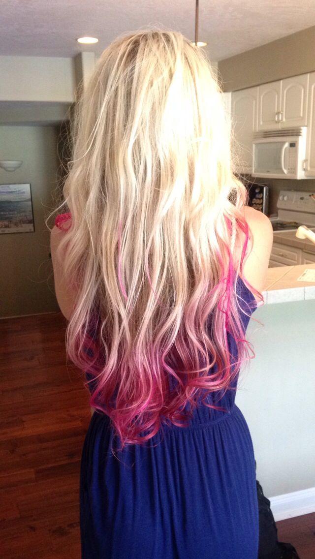Nuante de par unicat blond roz