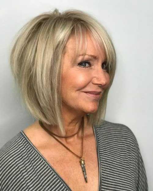 Tunsori pentru femei 60+ blond