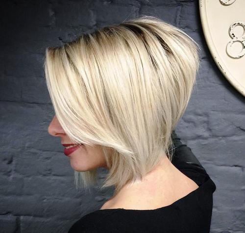 Tunsori bob texturat blond