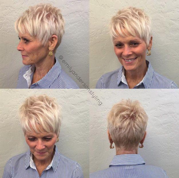 Tunsori scurte care intineresc blond