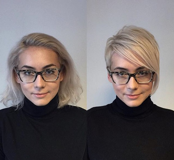 Tunsori cu breton filat ochelari