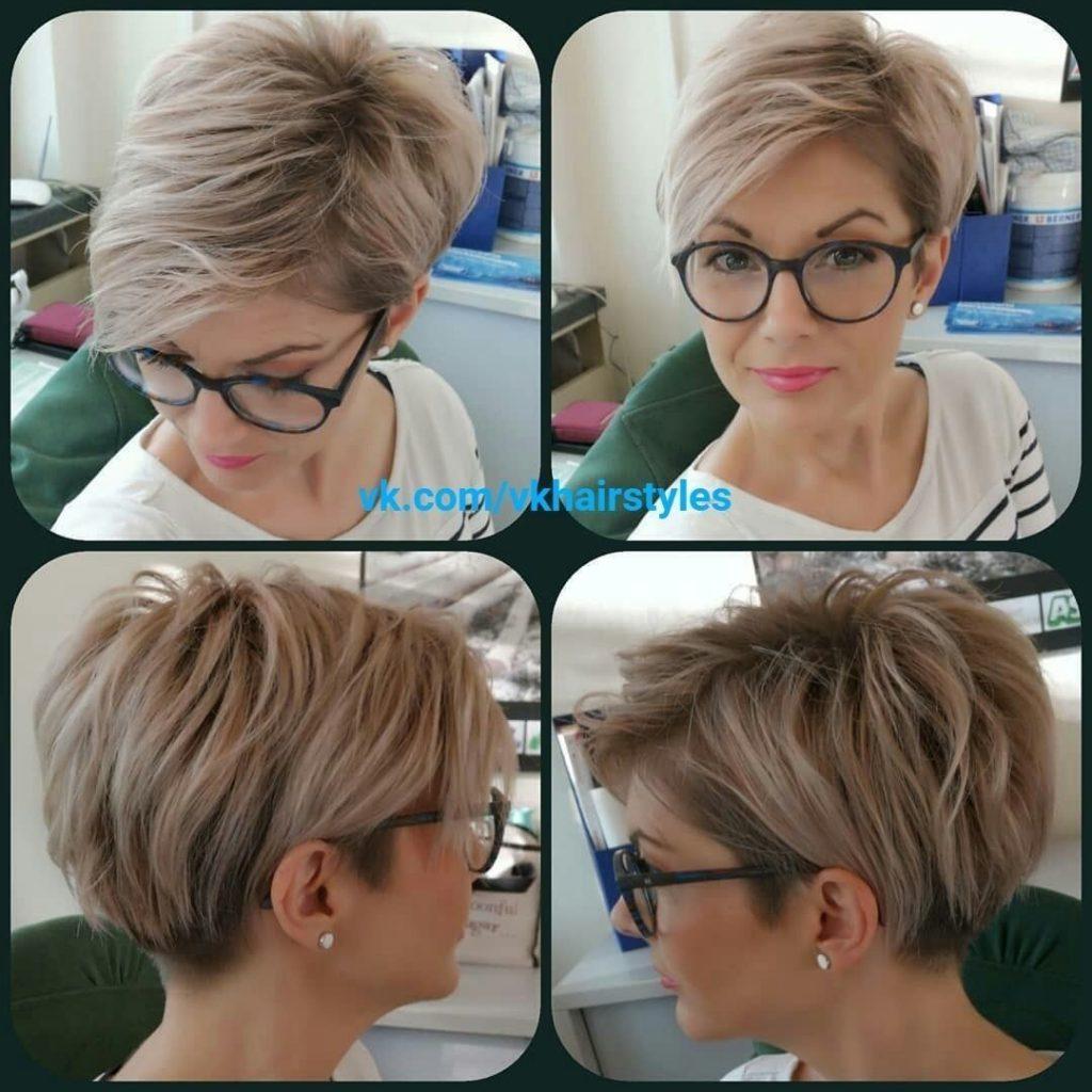 tunsori pixie la moda ochelari