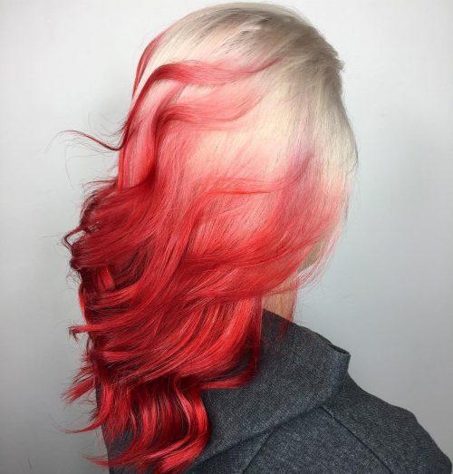 Roscat aprins culoare par