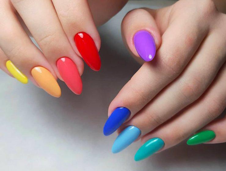 Modele unghii gel 2020 colorate