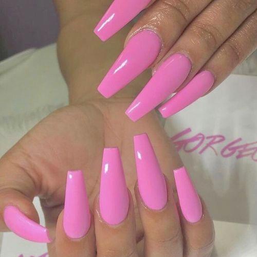 Modele unghii gel 2020 roz