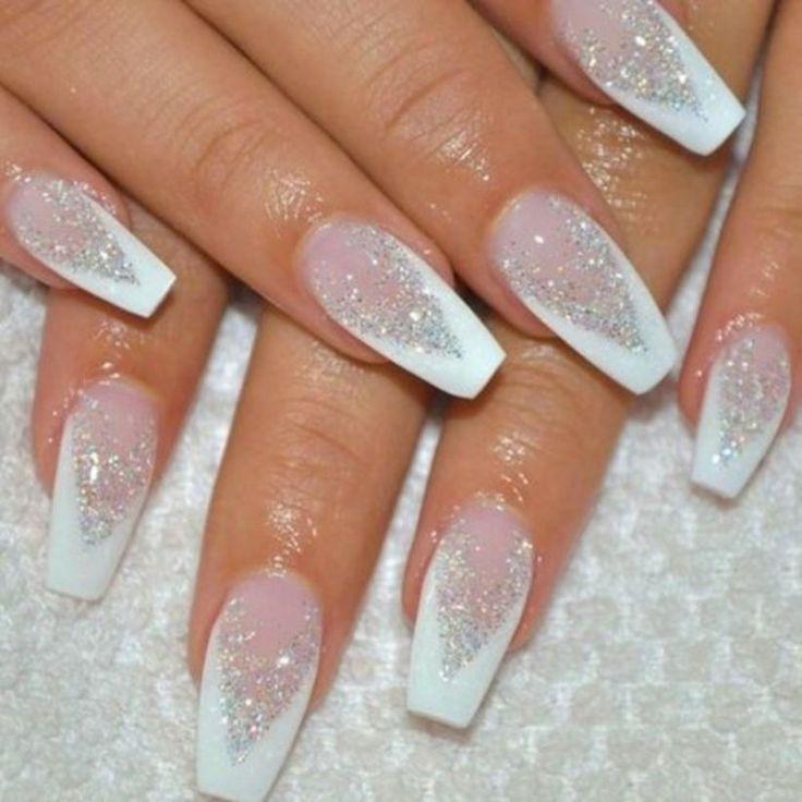 modele unghii gel albe