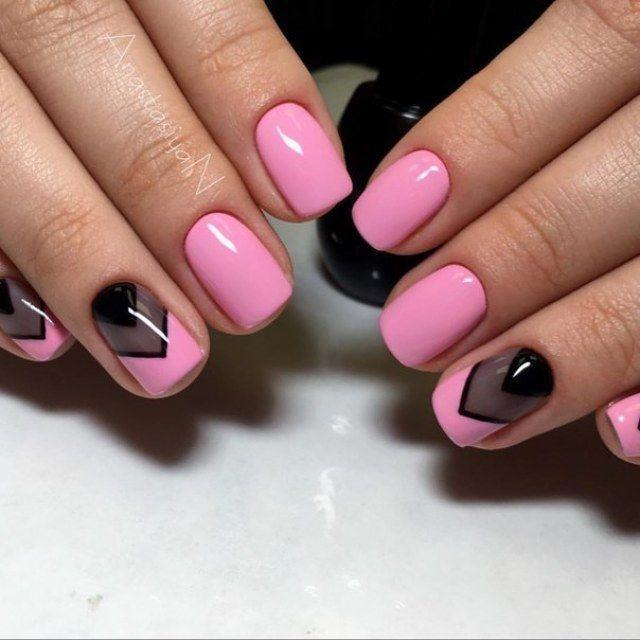 Unghii gel roz 2021